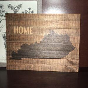 Kentucky home wooden sign